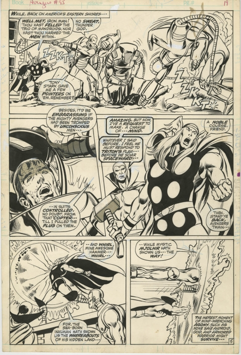Avengers issue 95 page 15 by Neal Adams and Tom Palmer.  Source.