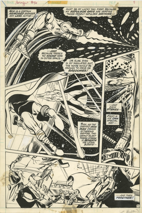 Avengers issue 96 page 7 by Neal Adams and Tom Palmer. Source.