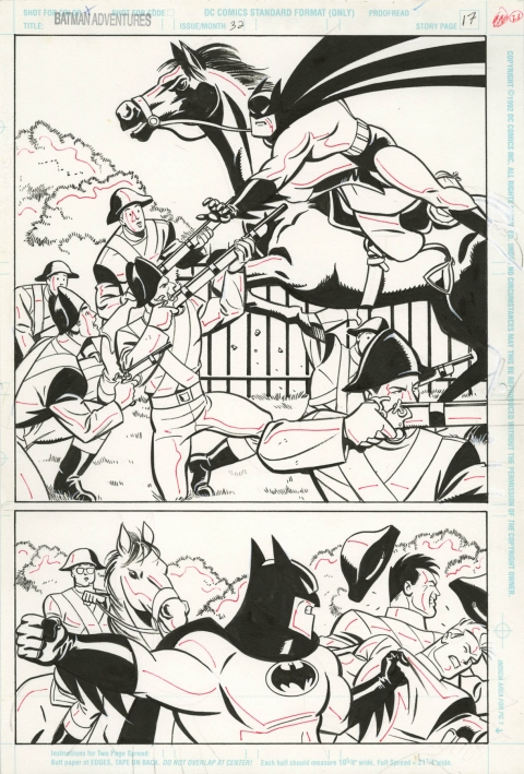 Batman Adventures issue 32 page 17 by Mike Parobeck and Rick Burchett. Source.