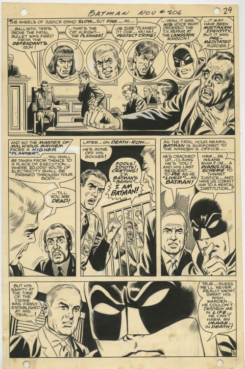 Batman issue 206 page 23 by Irv Novick and Joe Giella. Source.