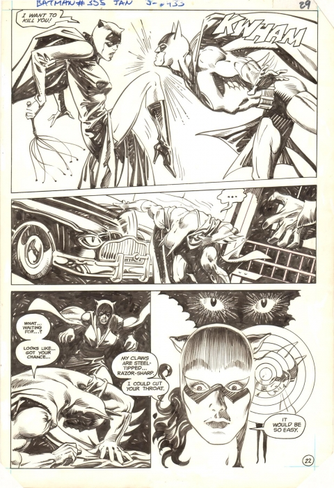 Batman issue 355 page 22 by Don Newton and Alfredo Alcala.  Source.