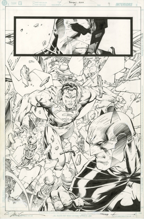Batman issue 612 page 9 by Jim Lee and Scott Williams.  Source.