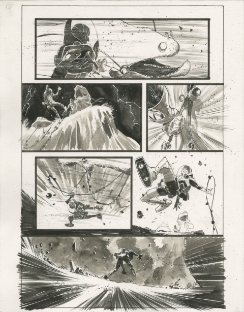 Black Science issue 1 page 7 by Matteo Scalera.  Source.