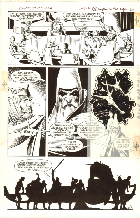 Camelot 3000 issue 4 page 12 by Brian Bolland and Bruce Patterson.  Source.