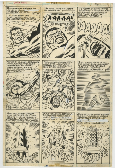 Captain America issue 200 page 26 by Jack Kirby and Frank Giacoia.  Source.