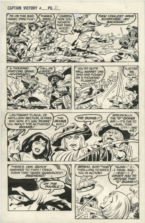 Captain Victory And The Galactic Rangers Special issue 1 page 21 by Jack Kirby and Mike Thibodeaux.  Source.