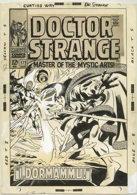 Doctor Strange issue 172 cover by Gene Colan and Dan Adkins.  Source.