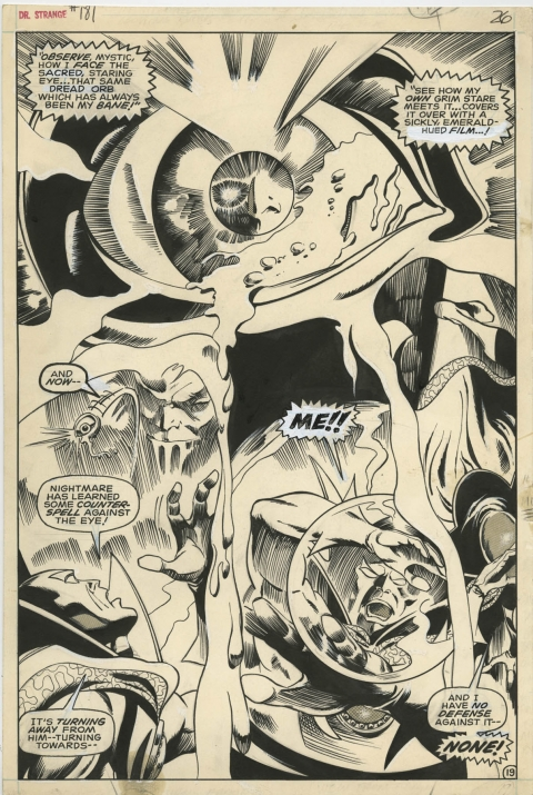 Doctor Strange issue 181 page 19 by Gene Colan and Tom Palmer.  Source.