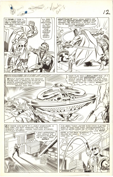 Fantastic Four issue 39 page 9 by Jack Kirby, Frank Giacoia and Wally Wood.  Source.