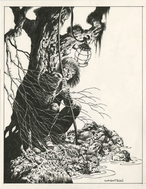 Headquarters by Bernie Wrightson.  Source.