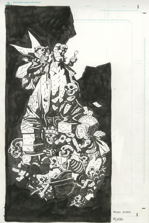 Hellboy The First 20 Years cover by Mike Mignola.  Source.