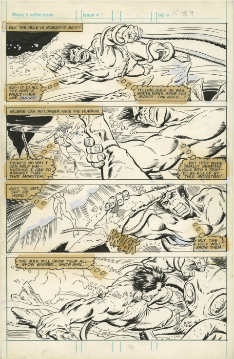 Hulk issue 16 page 39 by Mike Zeck and John Tartaglione.  Source.