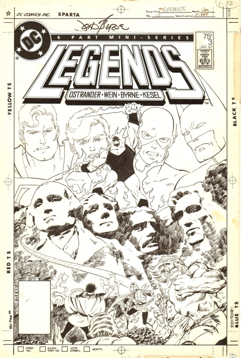 Legends issue 3 cover by John Byrne. Source.