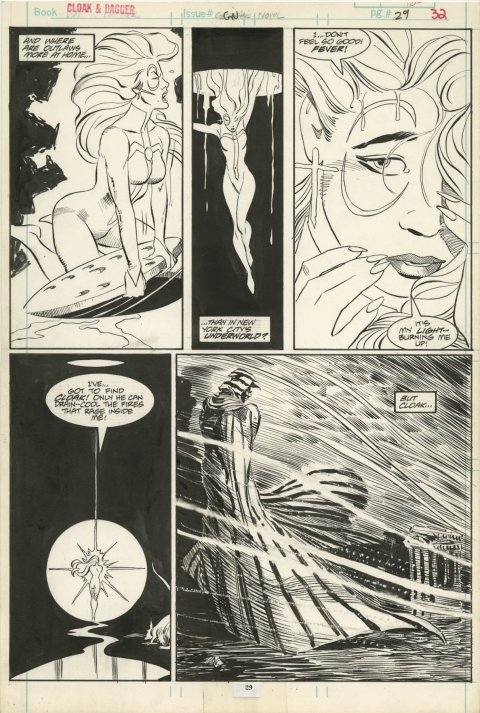 Marvel Graphic Novel Predator & Prey page 29 by Larry Stroman and Al Williamson.  Source.