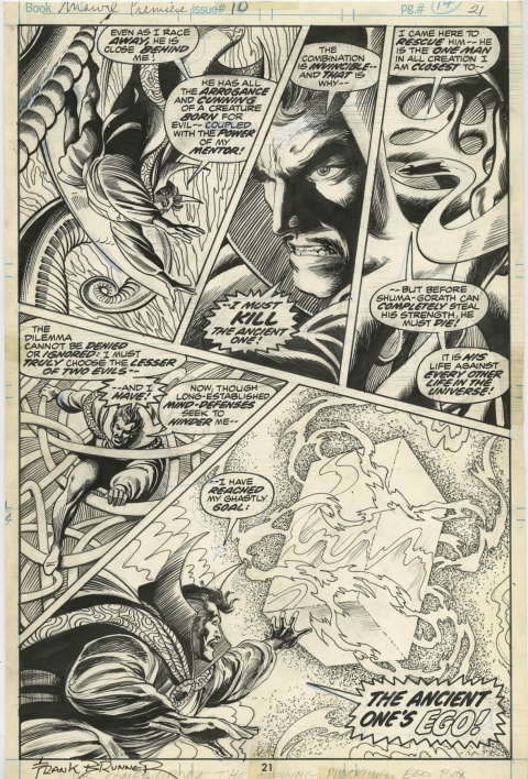 Marvel Premiere issue 10 page 21 by Frank Brunner and Crusty Bunkers.  Source.