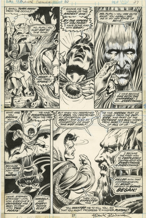 Marvel Premiere issue 10 page 27 by Frank Brunner and Crusty Bunkers.  Source.