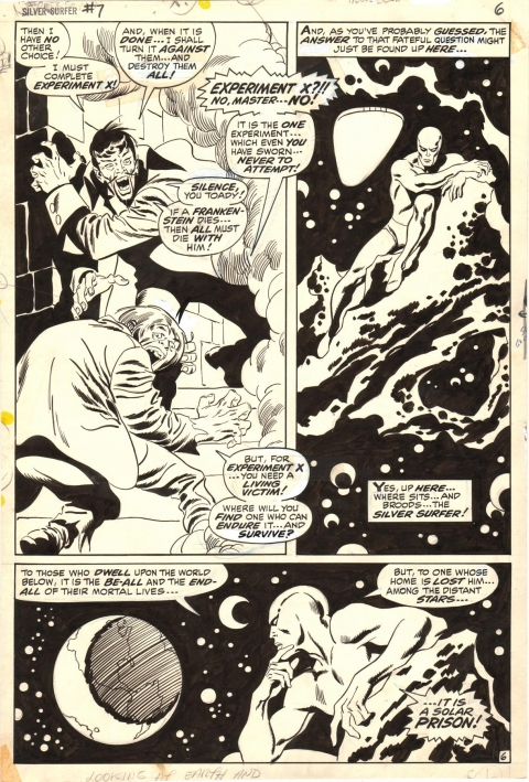 Silver Surfer issue 7 page 6 by John Buscema and Sal Buscema.  Source.