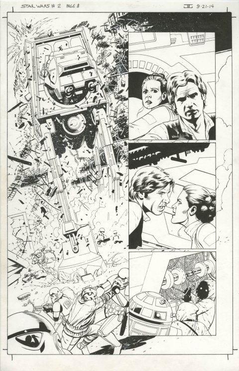 Star Wars issue 2 page 8 by John Cassaday.  Source.