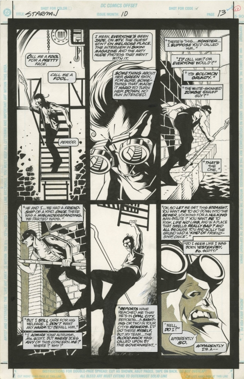 Starman issue 10 page 13 by Tony Harris and Wade Von Grawbadger.  Source.