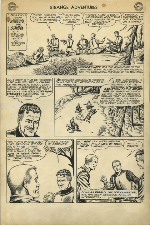 Strange Adventures issue 156 page 2 by Murphy Anderson. Source.