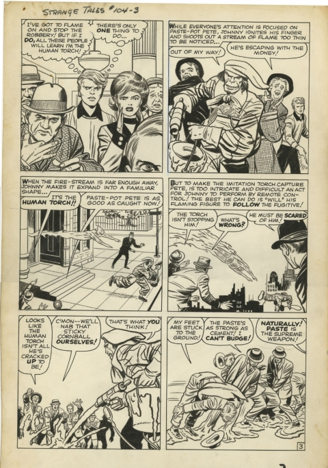 Strange Tales issue 104 page 3 by Jack Kirby and Dick Ayers.  Source.