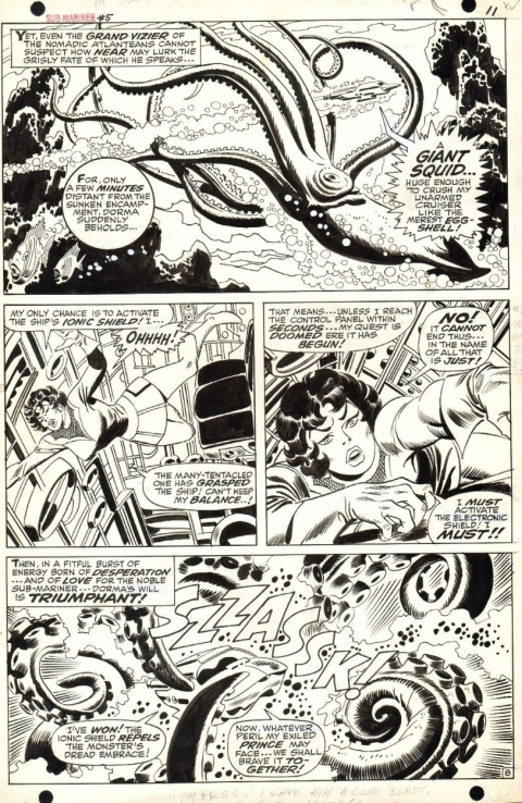 Sub-Mariner issue 5 page 11 by John Buscema and Frank Giacoia. Source.