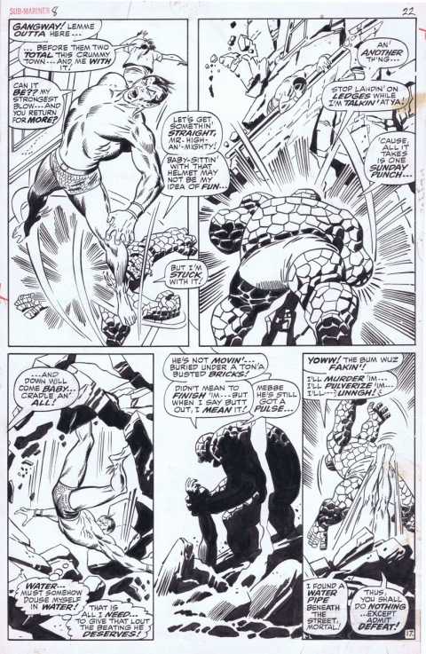 Sub-Mariner issue 8 page 22 by John Buscema and Dan Adkins. Source.