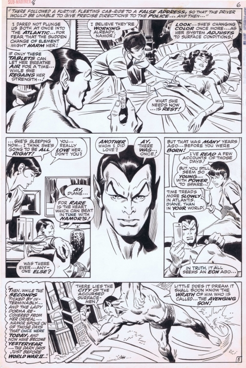 Sub-Mariner issue 8 page 6 by John Buscema and Dan Adkins. Source.