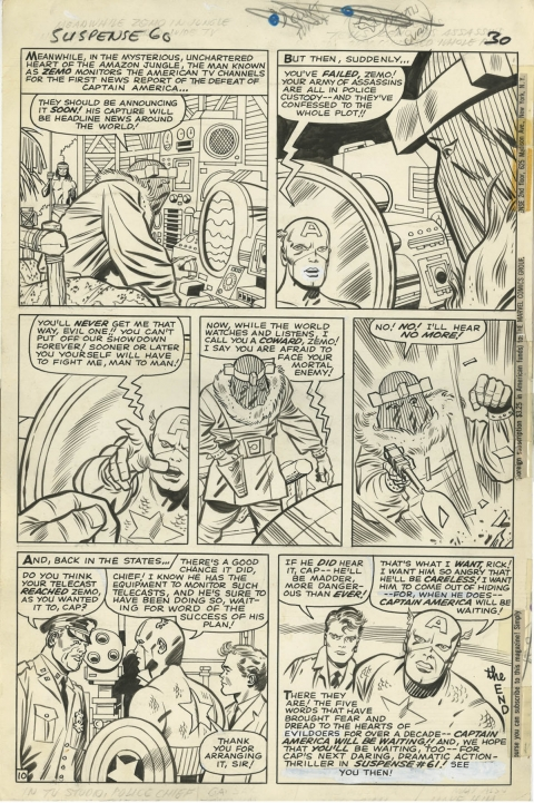 Tales Of Suspense issue 60 page 10 by Jack Kirby and Chic Stone.  Source.