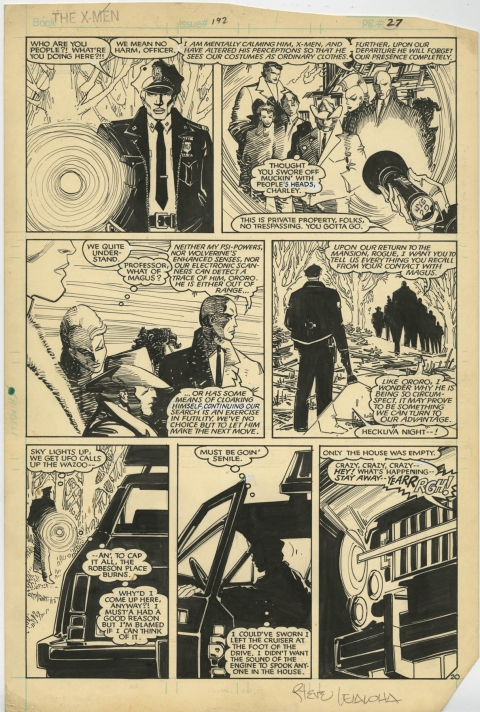 Uncanny X-Men issue 192 page 20 by John Romita Jr and Steve Leialoha.  Source.