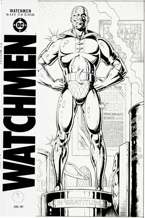 Watchmen issue 8 cover by Dave Gibbons.  Source.
