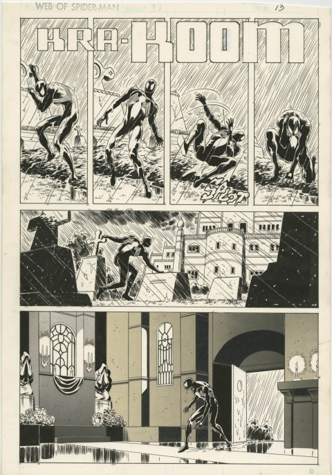 Web Of Spider-Man issue 32 page 13 by Mike Zeck and Bob McLeod. Source.