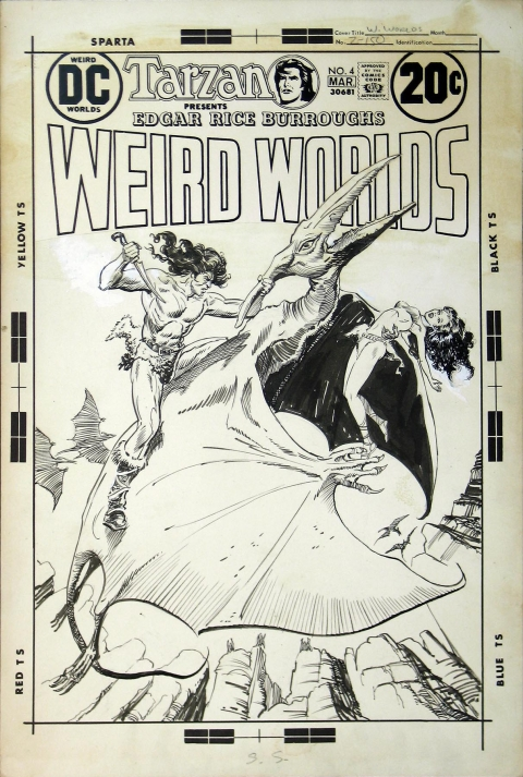 Weird Worlds issue 4 cover by Michael Kaluta and Joe Orlando.  Source.