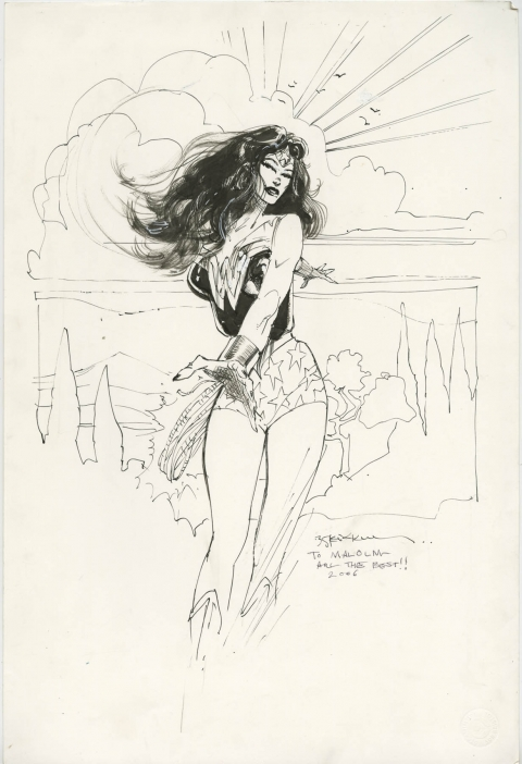 Wonder Woman by Bill Sienkiewicz.  Source.