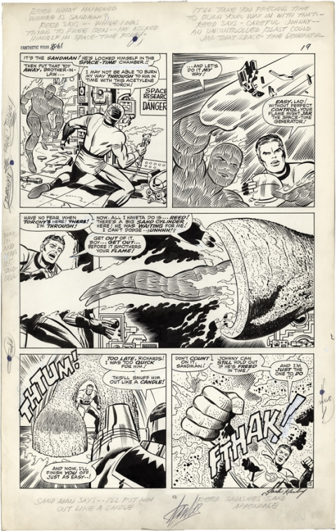 Fantastic Four issue 61 page 15 by Jack Kirby and Joe Sinnott. Source.
