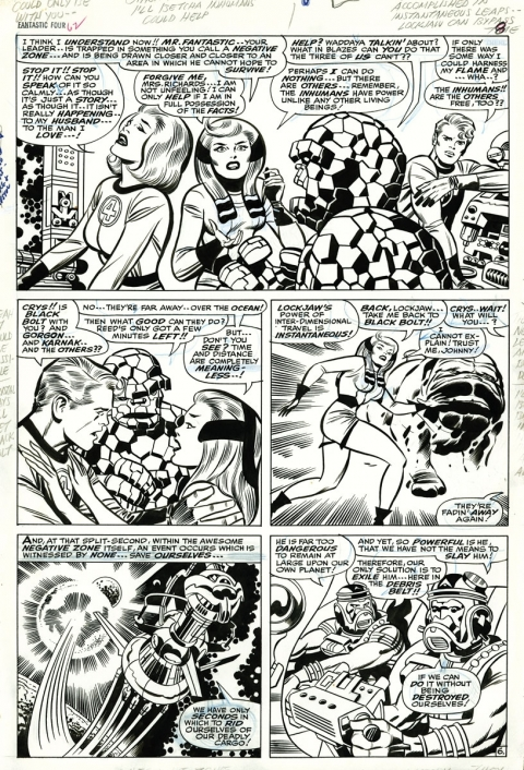 Fantastic Four issue 62 page 6 by Jack Kirby and Joe Sinnott. Source.