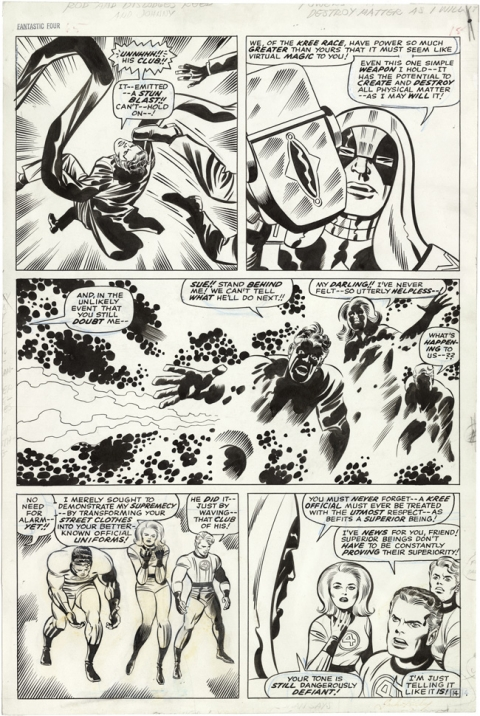 Fantastic Four issue 65 page 14 by Jack Kirby and Joe Sinnott. Source.