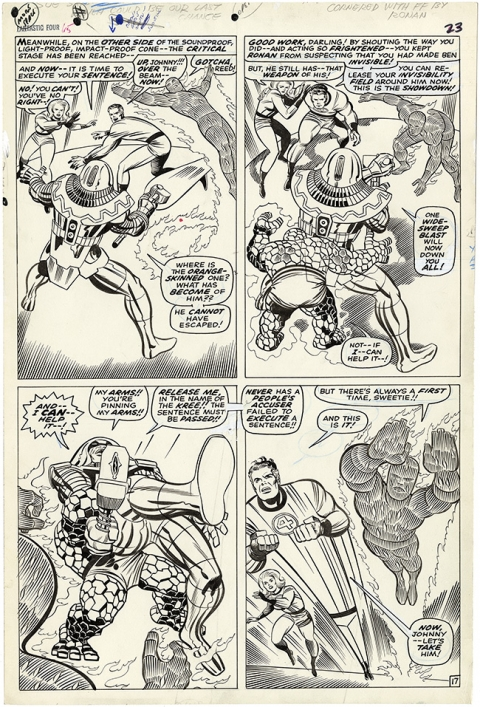 Fantastic Four issue 65 page 17 by Jack Kirby and Joe Sinnott. Source.