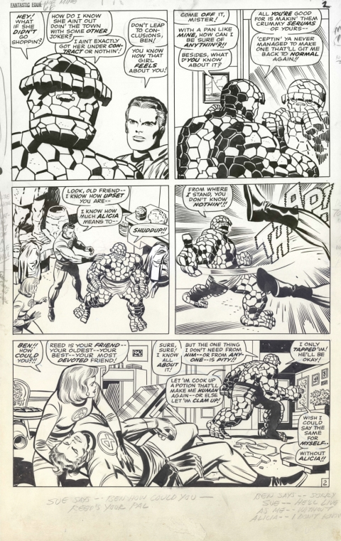 Fantastic Four issue 66 page 2 by Jack Kirby and Joe Sinnott. Source.