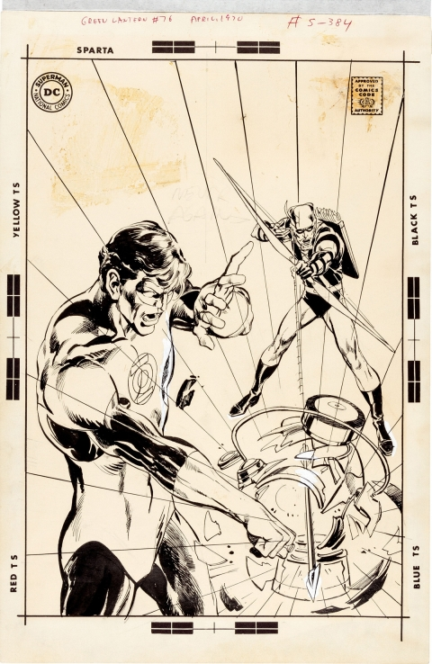 Green Lantern #76 Neal Adams original cover art - one of the most important pieces of comic art ever created - readies for auction