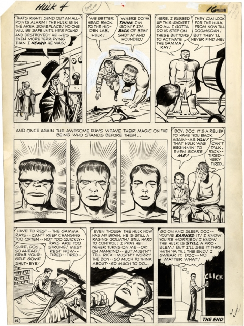 Incredible Hulk issue 4 page 16 by Jack Kirby and Dick Ayers. Source.