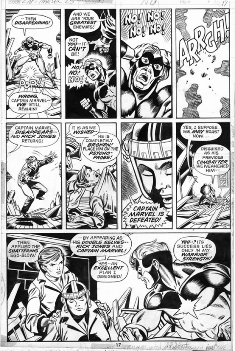 Captain Marvel issue 25 page 17 by Jim Starlin and Chic Stone. Source.