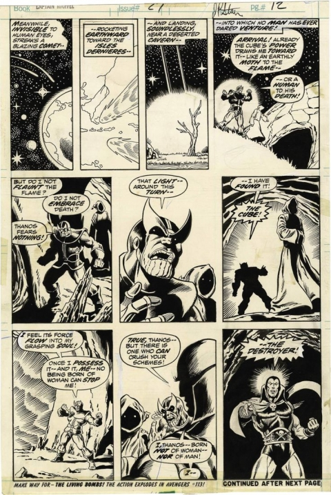 Captain Marvel issue 27 page 12 by Jim Starlin and Pablo Marcos. Source.