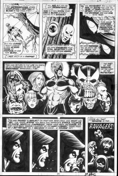Captain Marvel issue 29 page 26 by Jim Starlin and Al Milgrom. Source.