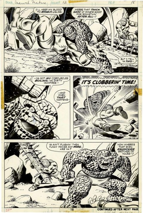 Marvel Feature issue 12 page 18 by Jim Starlin and Joe Sinnott. Source.
