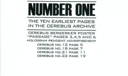 Review   Cerebus Archive Number One